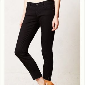 "AG ""The Stevie Cuff"" in black jean"
